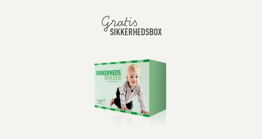 Børneulykkesfondens babypakke - Sikkerhedsboksen