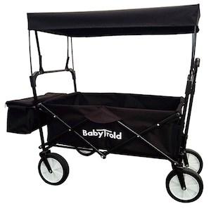 Babytrold foldbar trækvogn med tag