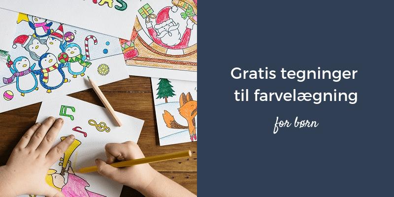 Sådan finder du gratis tegninger til farvelægning for børn